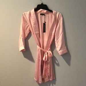 Pink changing gown